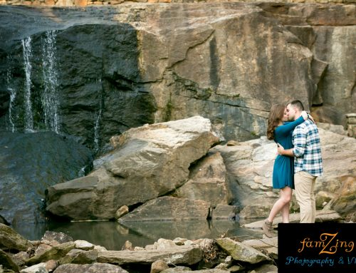 Rock Quarry Garden Engagements | Bethany + Joey